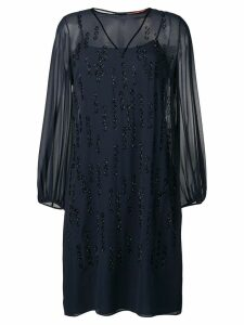 Max Mara Mania bead embroidered dress - Blue