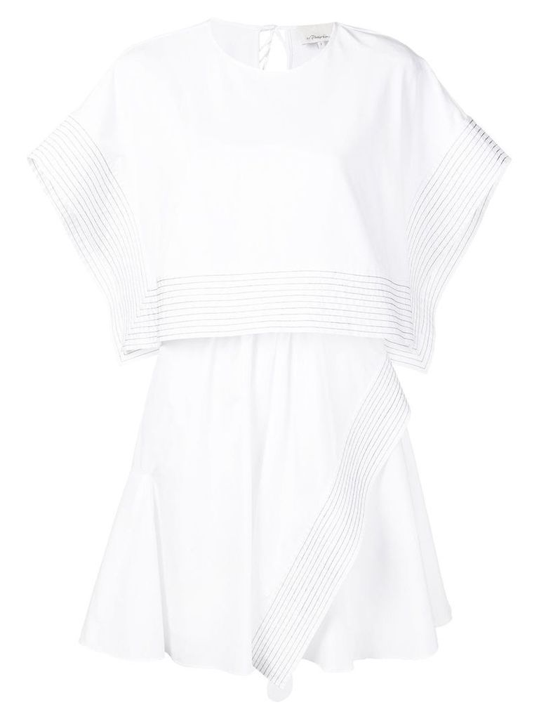 3.1 Phillip Lim batwing poplin dress - White