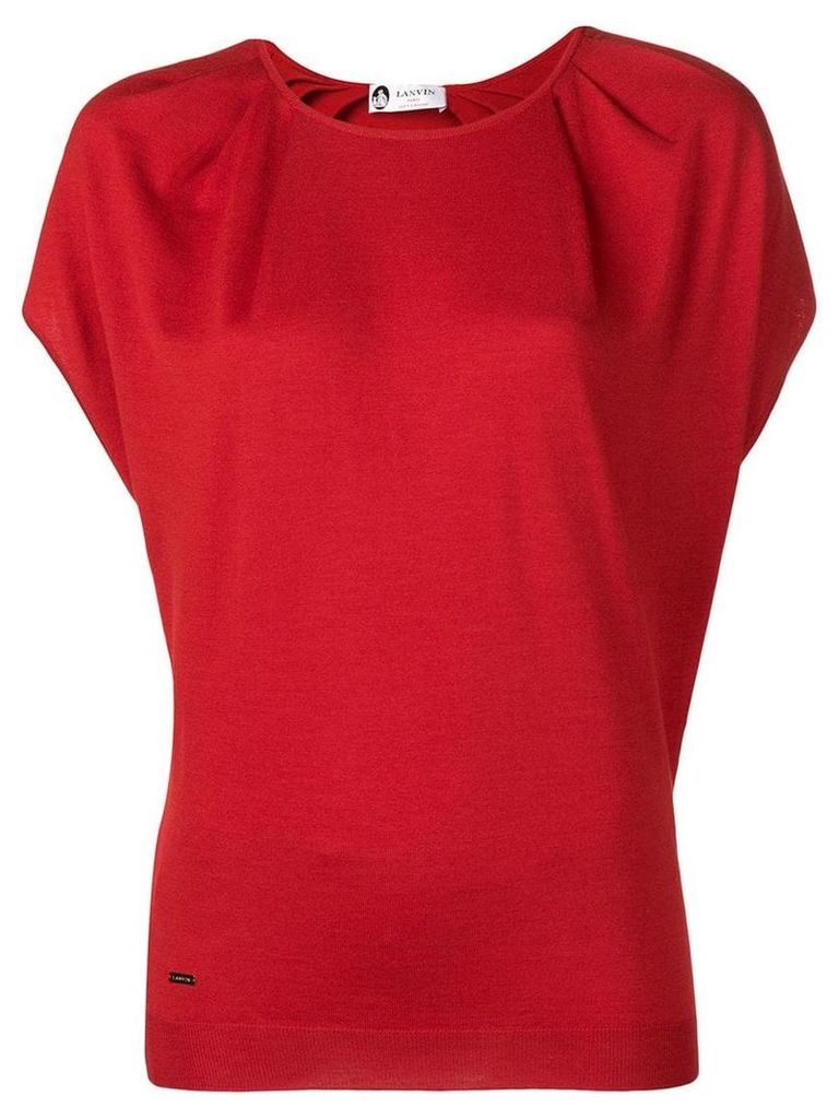 Lanvin batwing sleeve knit top - Red
