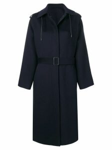 Joseph long hooded coat - Blue
