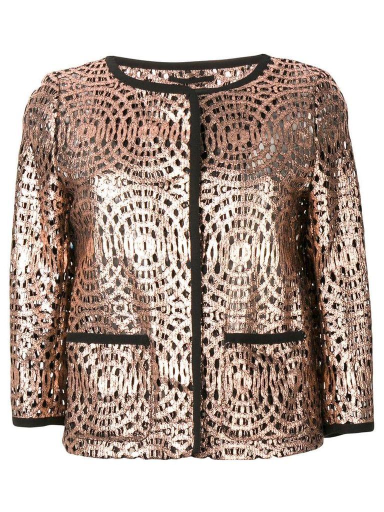 Herno patterned single-breasted jacket - Pink