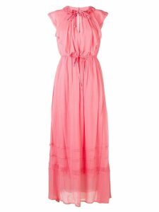 Twin-Set ruffle maxi dress - Pink