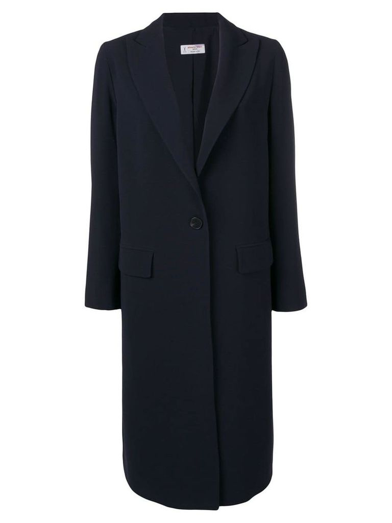 Alberto Biani single-breasted coat - Blue
