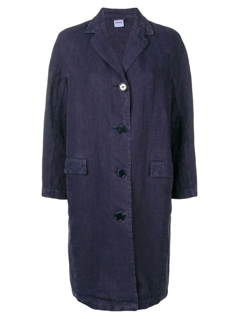 Aspesi single-breasted coat - Blue