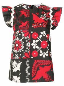 Red Valentino printed blouse - Black