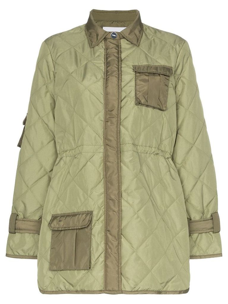 Ganni Aspen quilted jacket - Green