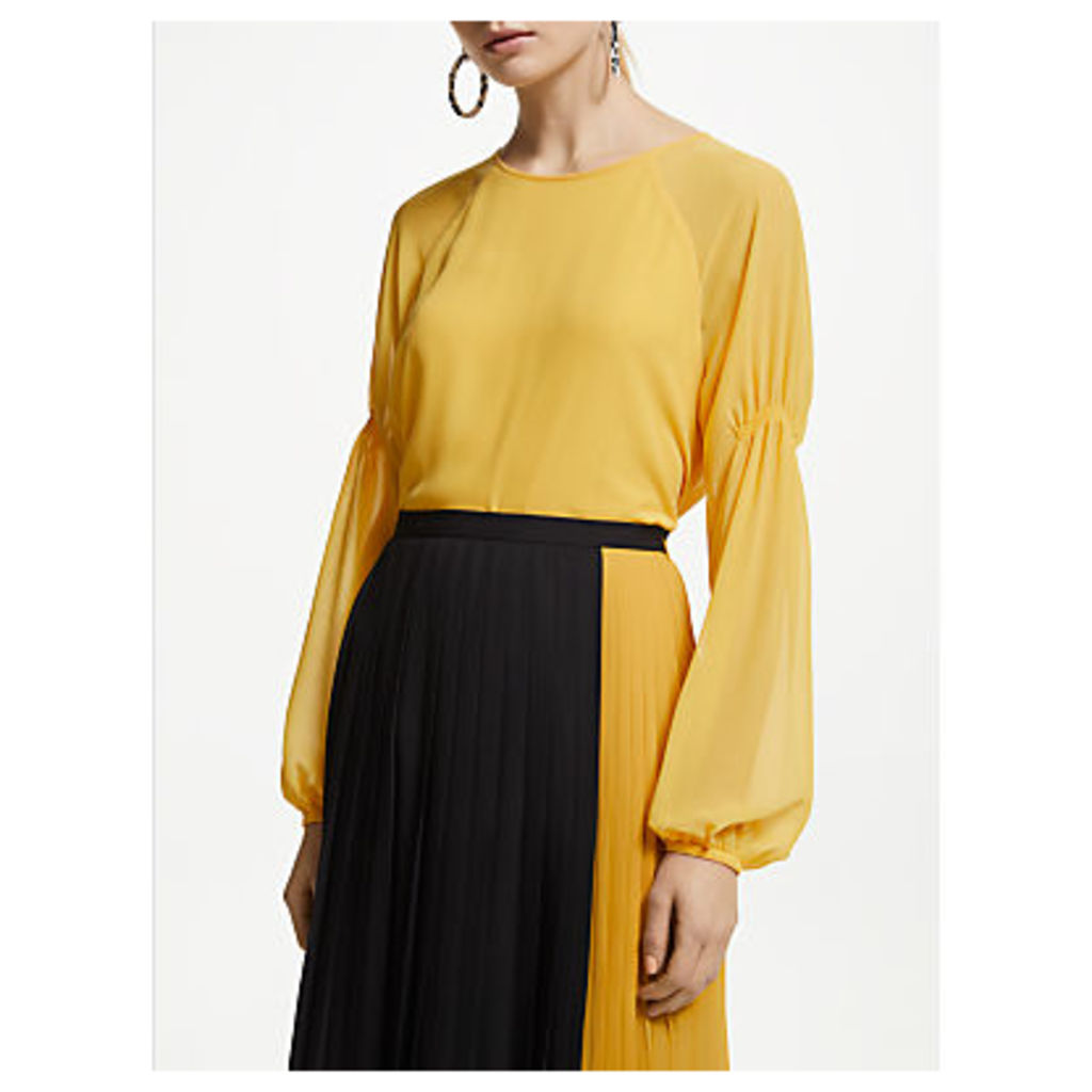 John Lewis & Partners Double Layer Georgette Top