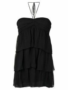 Saint Laurent short tiered dress - Black