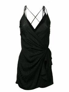 Attico mini wrap dress - Black