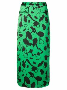 Rejina Pyo printed straight skirt - Green