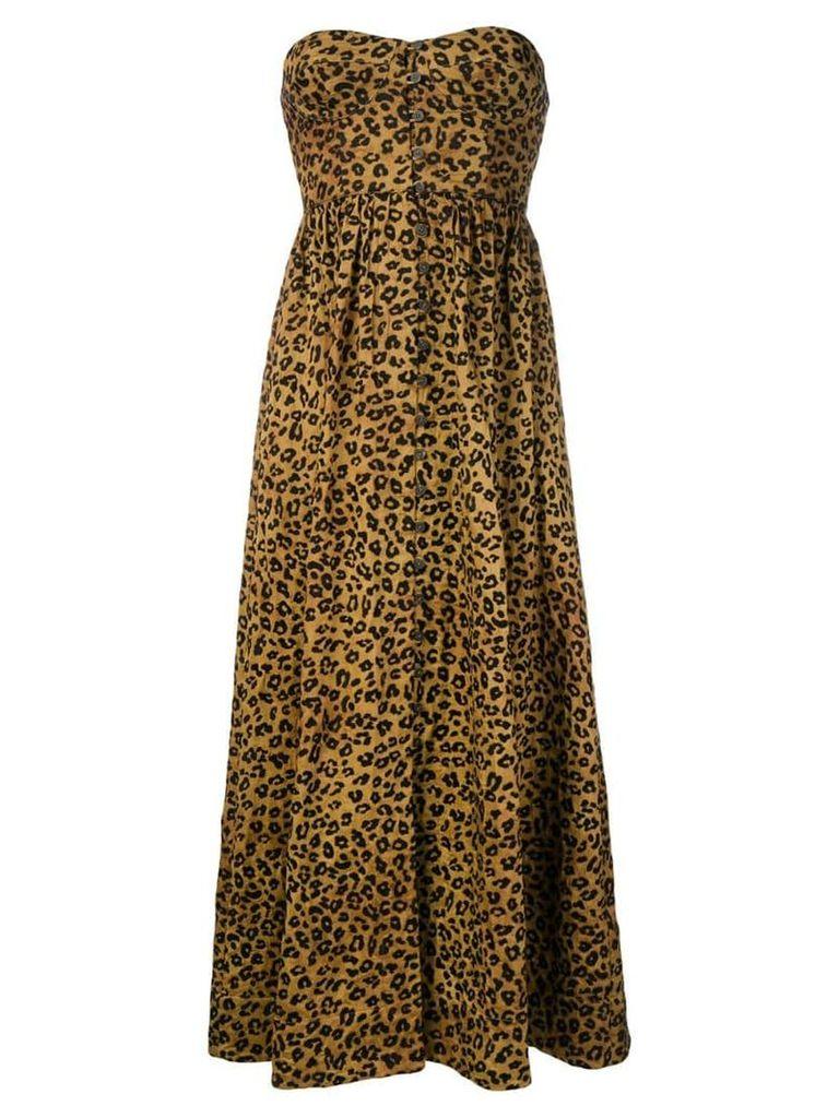 Mara Hoffman Mercedes off-shoulder dress - Brown