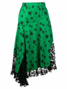Kenzo lace panelled skirt - Green