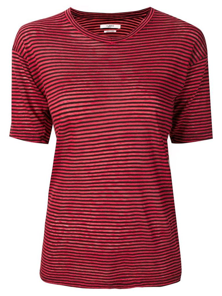 Isabel Marant Étoile striped T-shirt - Red