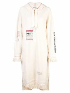 Monse oversized hoodie dress - Neutrals