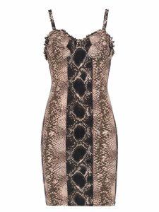 Amir Slama printed shift dress - Black