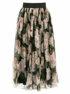 Dolce & Gabbana roses print flared skirt - Multicolour
