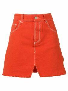 Heron Preston denim mini skirt - ORANGE
