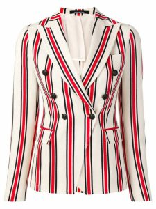 Tagliatore double breasted striped blazer - Red