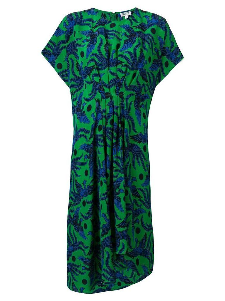 Kenzo phoenix print dress - Green