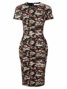 Victoria Beckham camouflage jacquard midi dress - Black