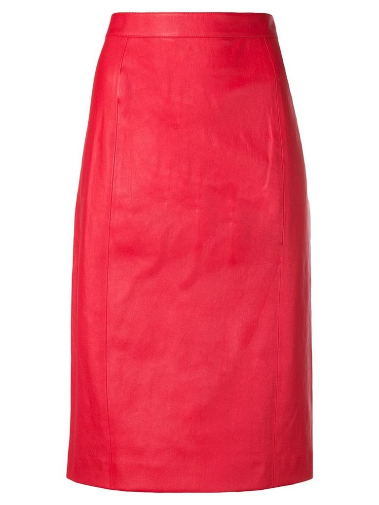 Joseph high-rise pencil skirt - Red