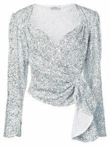 Attico sequinned top - Silver