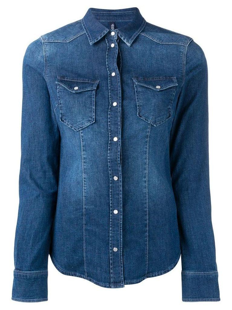 Liu Jo fitted denim shirt - Blue
