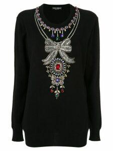 Dolce & Gabbana jewelled jumper - Black