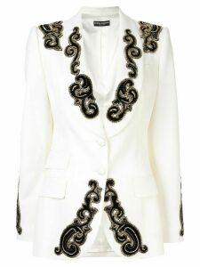 Dolce & Gabbana beaded detail blazer - White