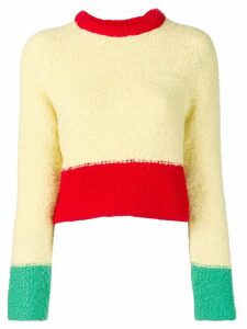 Eckhaus Latta colourblock jumper - Yellow