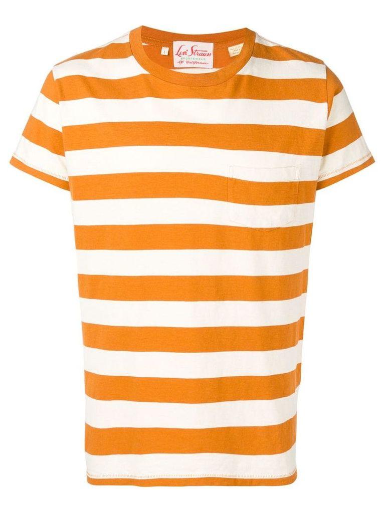 Levi's Vintage Clothing striped pocket T-shirt - Orange