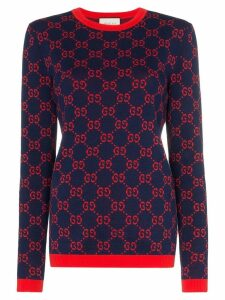 Gucci GG motif cotton sweater - Blue