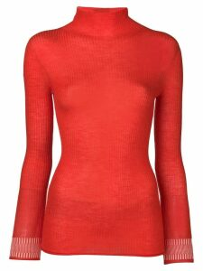 Victoria Victoria Beckham turtle neck jumper - Red
