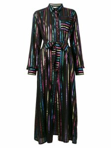 Attico metallic striped dress - Black