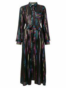 Attico metallic striped dress - Black