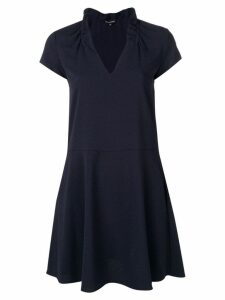 Emporio Armani flared V-neck dress - Blue