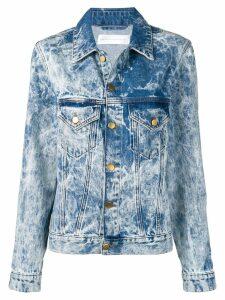 Victoria Victoria Beckham bleached denim jacket - Blue