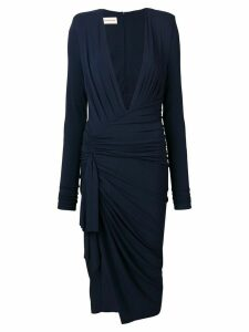 Alexandre Vauthier draped midi dress - Blue