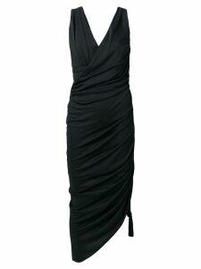 Lanvin ruched asymmetric dress - Black