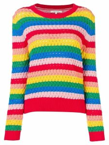 Chinti & Parker crochet-knitted sweater - Red