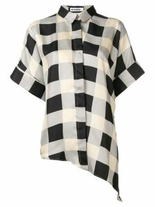 Jil Sander checked button shirt - Grey