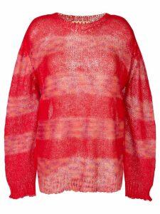 Marni striped jumper - Red