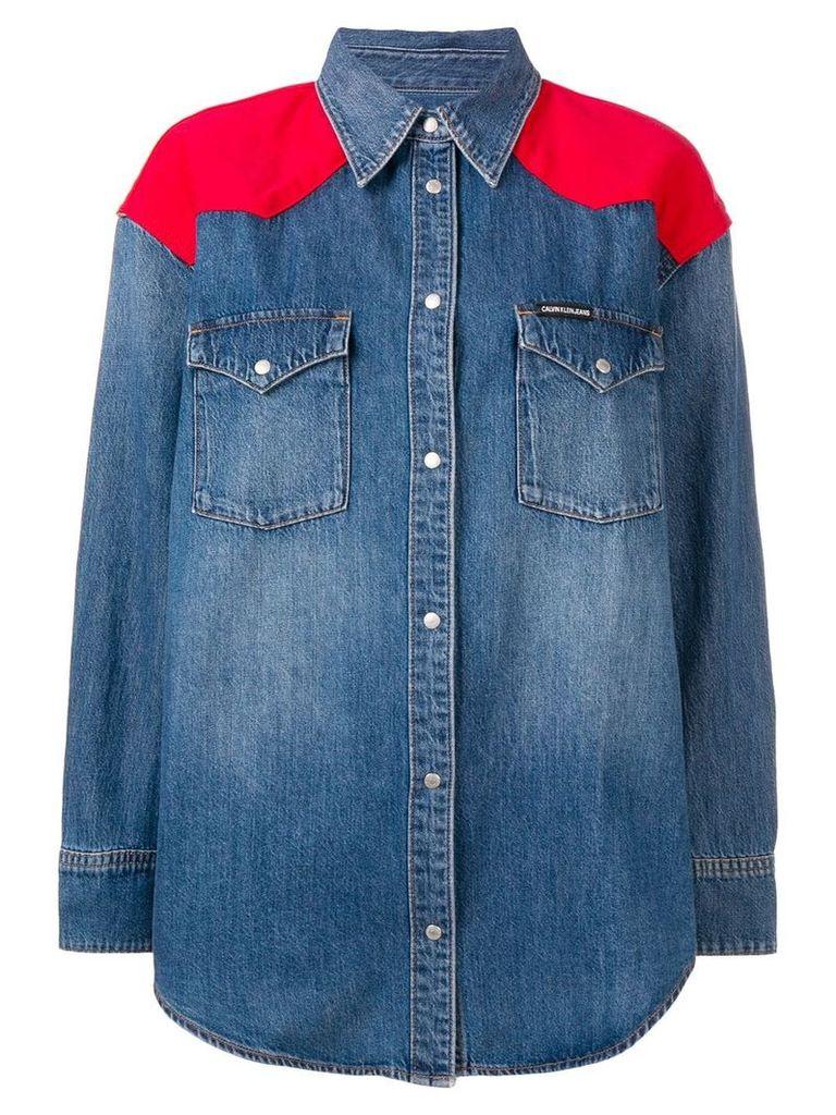 Calvin Klein Jeans western denim shirt - Blue