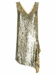 P.A.R.O.S.H. sequinned cocktail dress - Gold