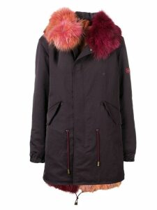 Mr & Mrs Italy fur trimmed hood parka - Red