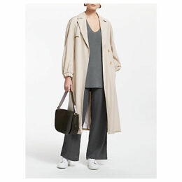 John Lewis & Partners Elasticated Cuff Trench Coat