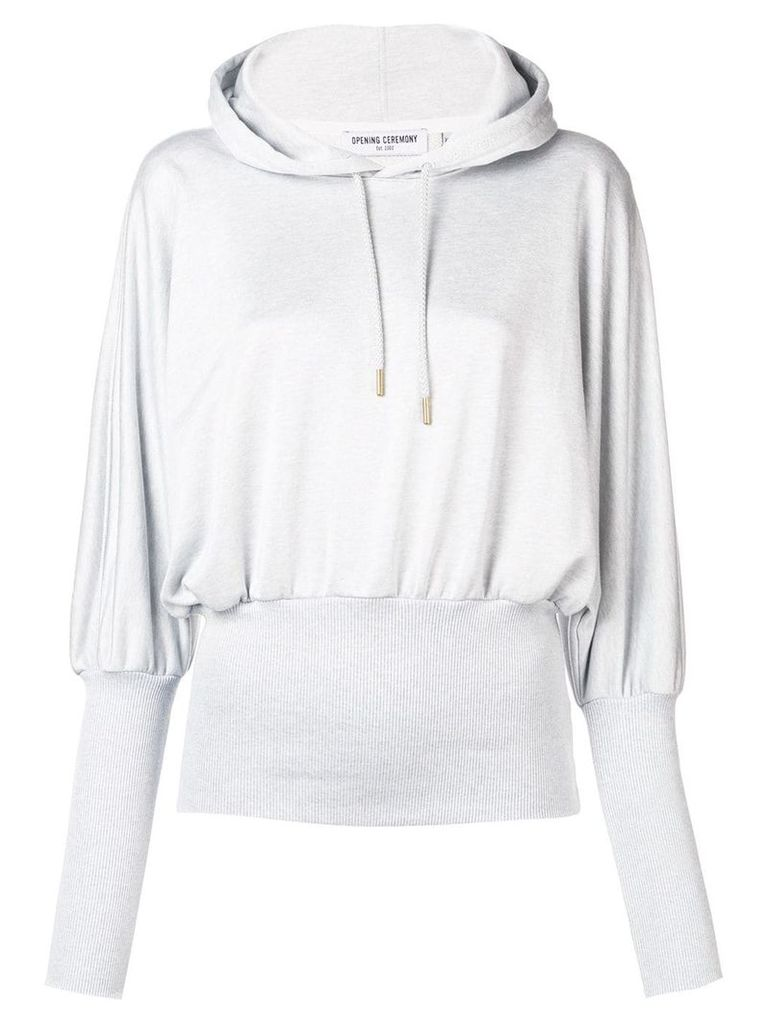 Opening Ceremony ribbed waist hoodie - Grey