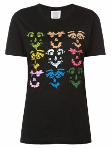 Rosie Assoulin multicoloured face print T-shirt - Black