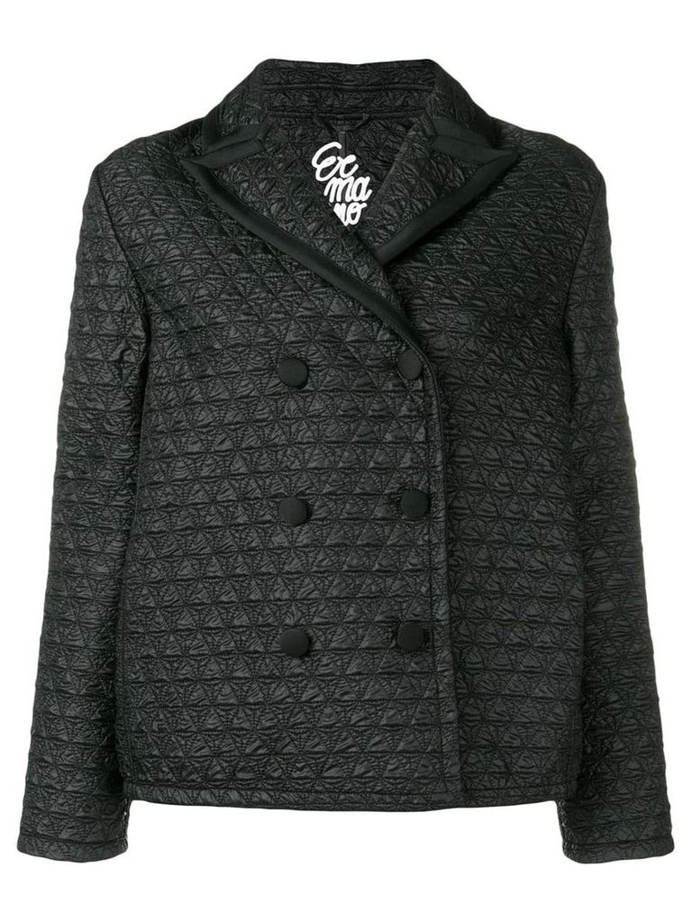 Ermanno Scervino quilted peacoat - Black