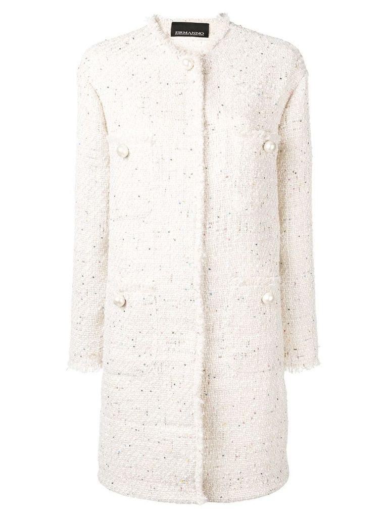 Ermanno Ermanno tweed coat - Neutrals